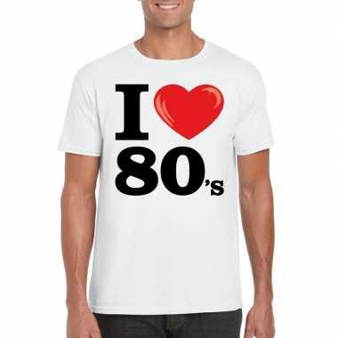 I love eighties t shirt wit heren