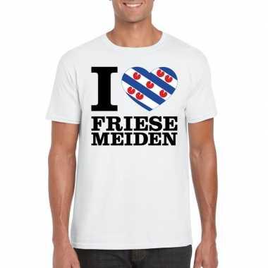 I love friese meiden t shirt wit heren