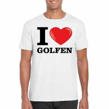 I love golfen t shirt wit heren