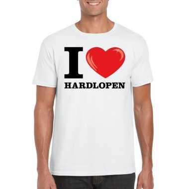 I love hardlopen t shirt wit heren