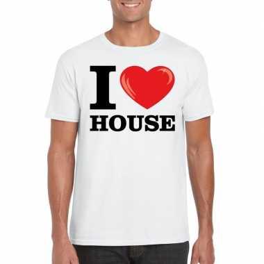 I love house t shirt wit heren