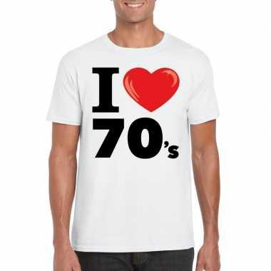 I love seventies t-shirt wit heren