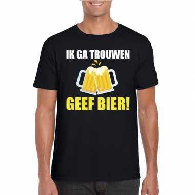 Ik ga trouwen geef bier t shirt zwart heren