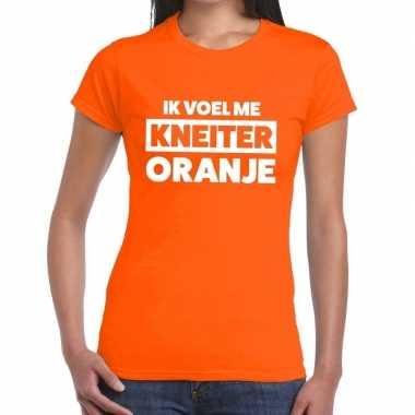 Ik voel me kneiter oranje koningsdag t shirt dames
