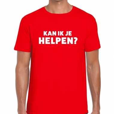 Kan ik je helpen beurs/evenementen t shirt rood heren