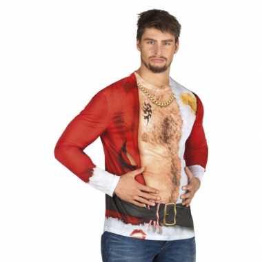 Kerst shirt aso kerstman opdruk heren