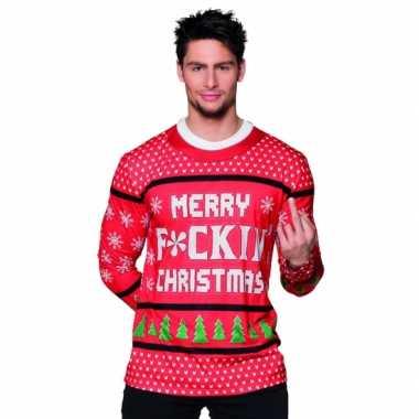 Kerst shirt kerst merry f ing christmas