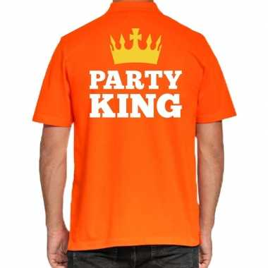 Koningsdag poloshirt party king heren