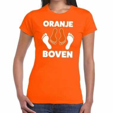 Koningsdag t shirt oranje boven dames
