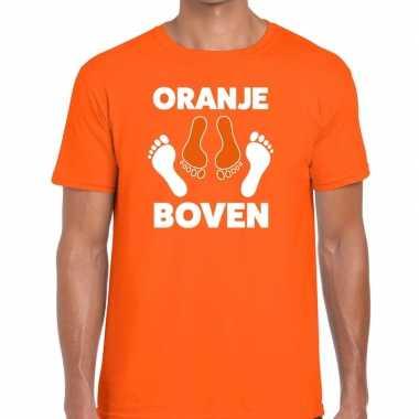 Koningsdag t shirt oranje boven heren