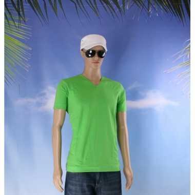 Lime heren t shirt v hals