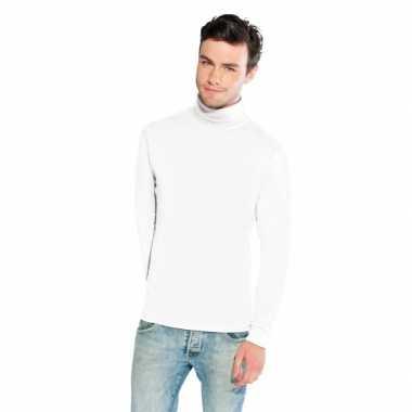 Luxe col t shirt wit heren