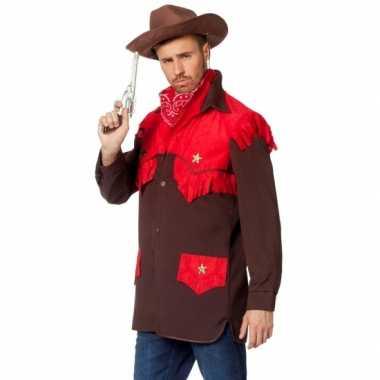 Luxe cowboy verkleed shirt heren