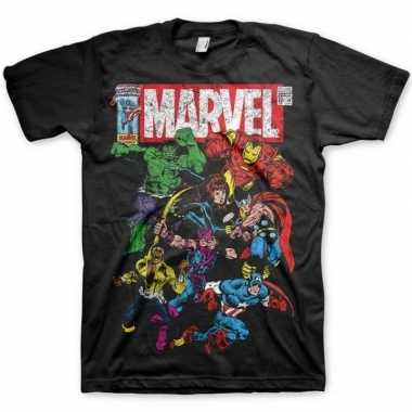 Marvel comics t shirt zwart heren