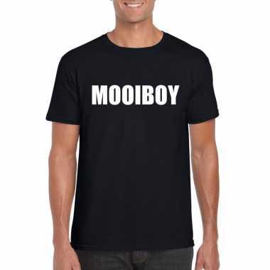 Mooiboy tekst t shirt zwart heren