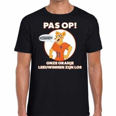 Nederland supporter t shirt leeuwinnen zijn los zwart heren