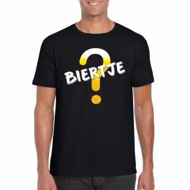Oktoberfest biertje tekst t-shirt zwart heren