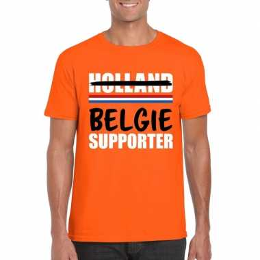 Oranje belgie shirt teleurgestelde holland supporters heren