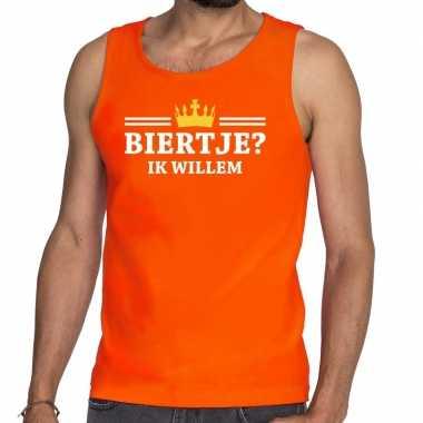 Oranje biertje ik willem tanktop / mouwloos shirt heren