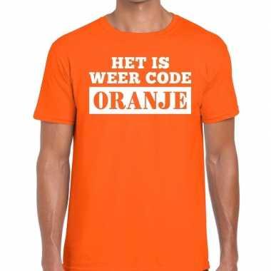 Oranje code oranje t shirt heren