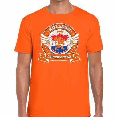 Oranje holland drinking team rwb t shirt heren