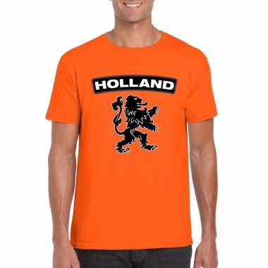 Oranje holland shirt zwarte leeuw heren