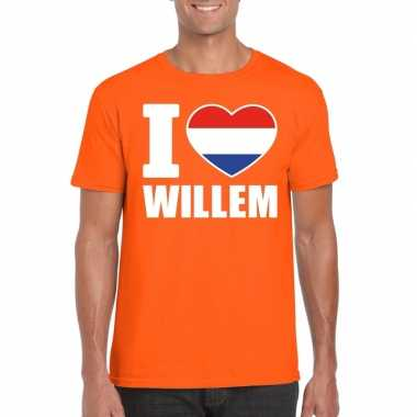 Oranje i love willem shirt heren