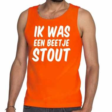 Oranje ik was een beetje stout tanktop / mouwloos shirt he