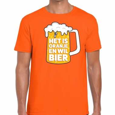 Oranje is oranje wil bier t shirt heren