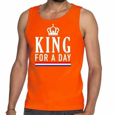 Oranje king for a day tanktop / mouwloos shirt he