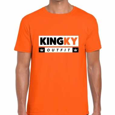 Oranje kingky outfit t shirt heren