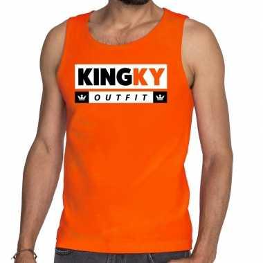 Oranje kingky outfit tanktop / mouwloos shirt he