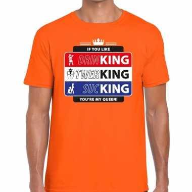Oranje kingsday if you like shirt heren