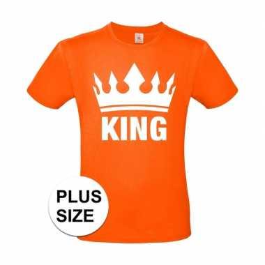 Oranje koningsdag king grote maten shirt heren
