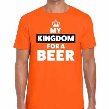 Oranje koningsdag my kingdom for a beer t shirt heren
