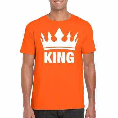 Oranje koningsdag shirt kroon heren