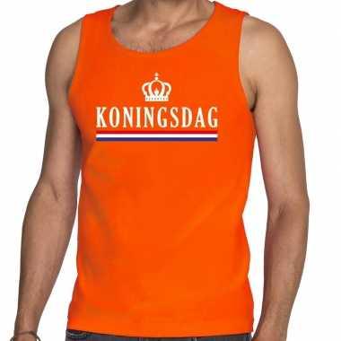 Oranje koningsdag vlag tanktop / mouwloos shirt he