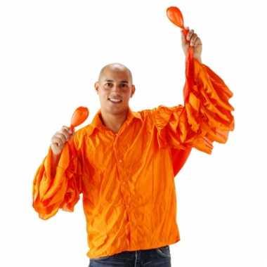 Oranje limbo shirt heren