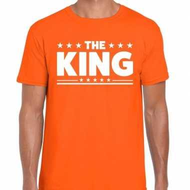 Oranje t shirt the king heren