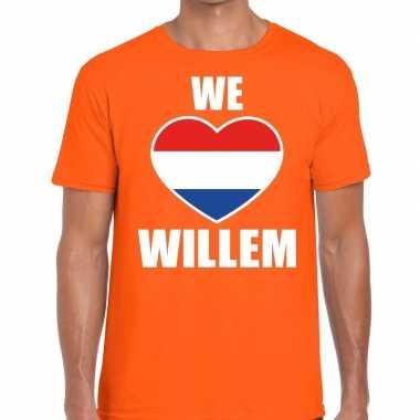Oranje we love willem t shirt heren