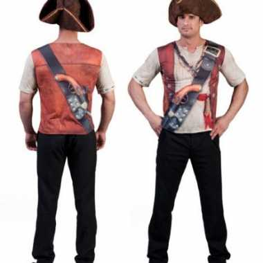 Piraat shirt d opdruk heren