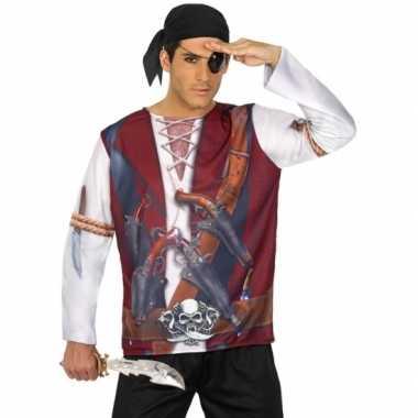 Piraat verkleed shirt heren