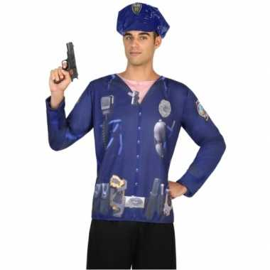 Politie verkleed shirt heren