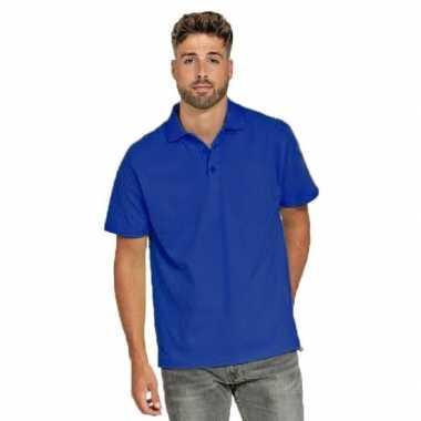 Polo shirt blauw heren