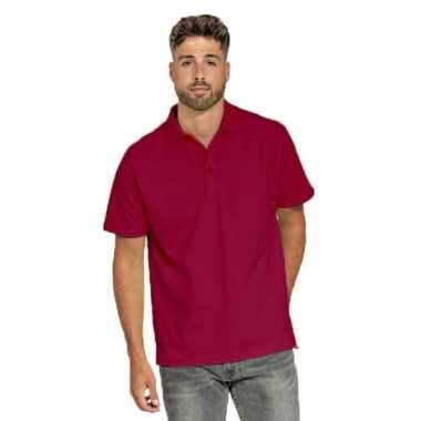 Polo shirt bordeaux rood heren