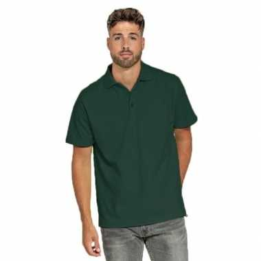 Polo shirt donkergroen heren