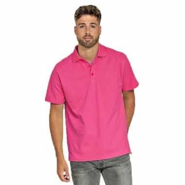 Polo shirt fuchsia roze heren