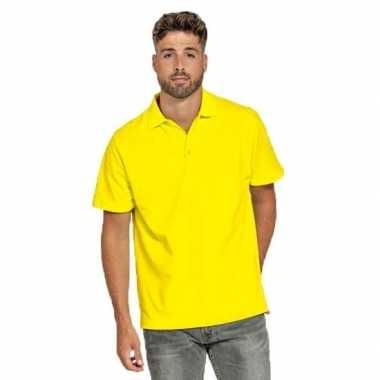 Polo shirt geel heren