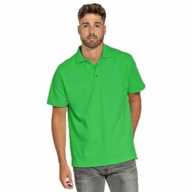 Polo shirt limegroen heren