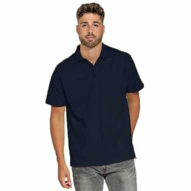 Polo shirt navyblauw heren